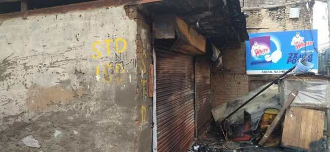 Shop gutted in fire mishap in Sopore
