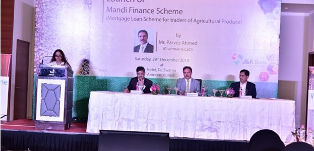 Chairman JK Bank launches Mandi Finance Scheme, inaugurates ATM, business unit