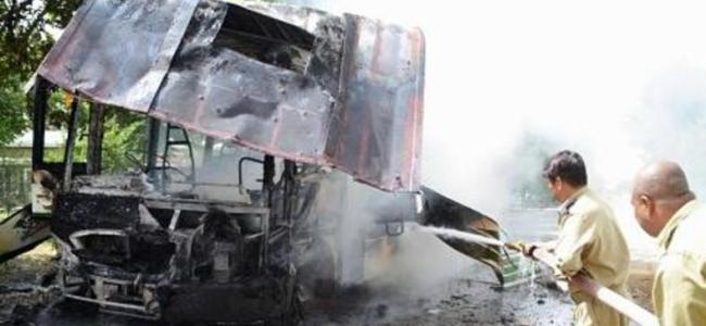 24 killed in Pakistan bus crash fire