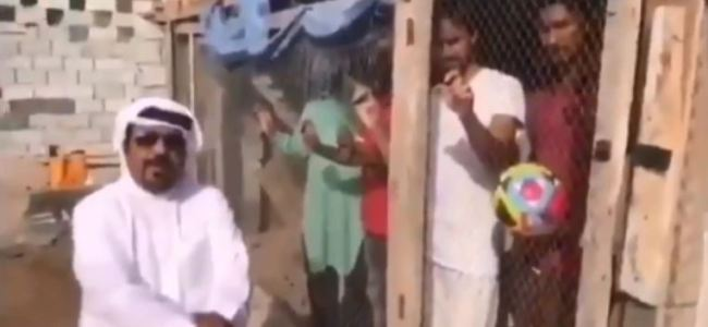 UAE man locks up Indian football fans in cage before match, watch viral video