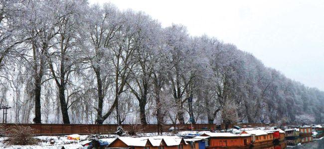 Srinagar receives first snowfall of 2020