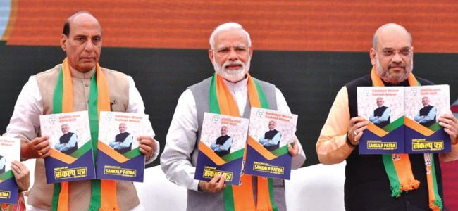 Manifesto: BJP stands by its promise to repeal Articles 370, 35A