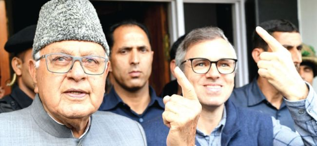 Ground situation should alert people on whom to vote for: Farooq