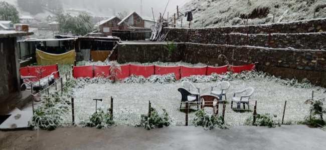 Fresh snowfall in Valley, Ladakh parts