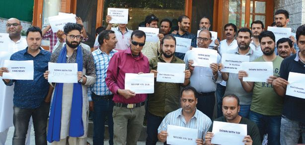 Journalists decry 'TOI' report, demand action against reporter