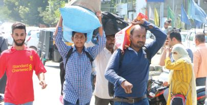 PANIC: The exodus begins as tourists, pilgrims flee
