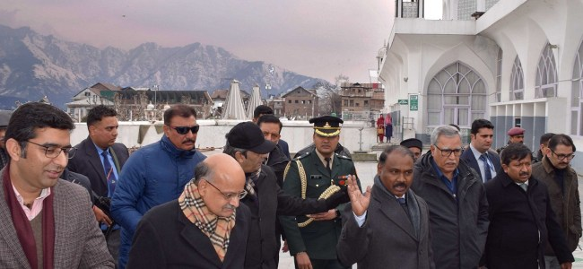 Lt Guv calls for perspective planning and integrated development of Srinagar city, calls for time-bound completion of projects