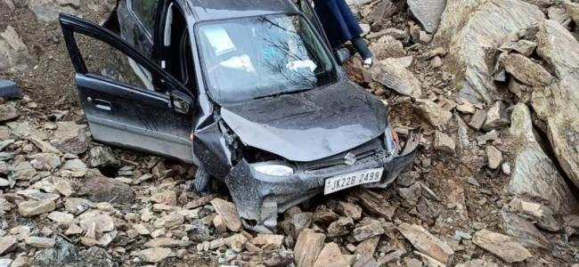 Four people injured in Banihal road mishap
