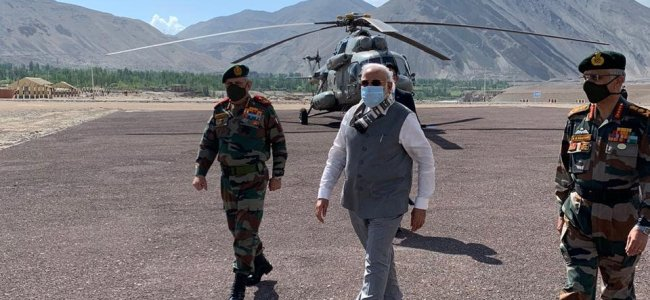 PM reaches Ladakh on surprise visit