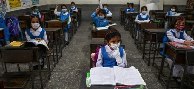 Schools reopen for classes 8th to 12 for students in Kashmir