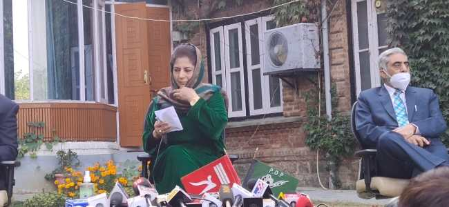 PAGD formed solely to safeguard interests of J-K residents: Mehbooba