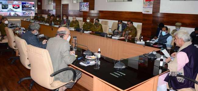 Lt Governor Manoj Sinha reviews security arrangements for local body polls