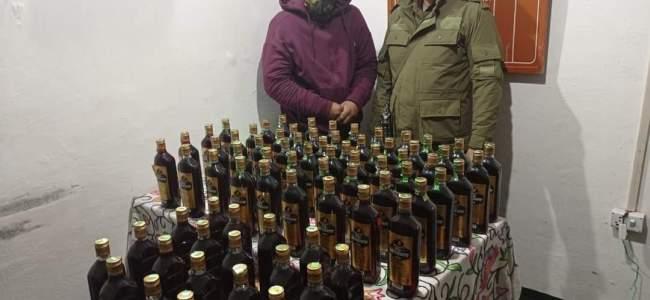 Bootlegger arrested in Ganderbal, 75 bottles of illicit liquor recovered