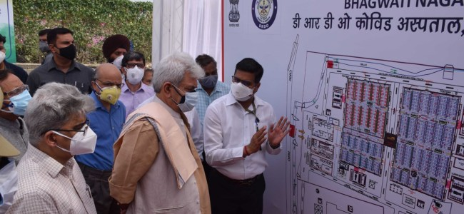 Lt Governor inaugurates DRDO's 500-bedded Covid Hospital