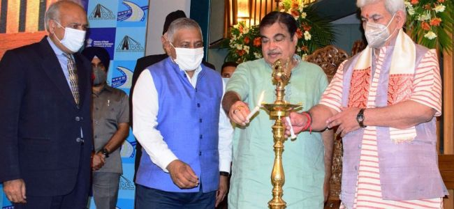 Nitin Gadkari, Lt Guv lay foundation for four NH Projects
