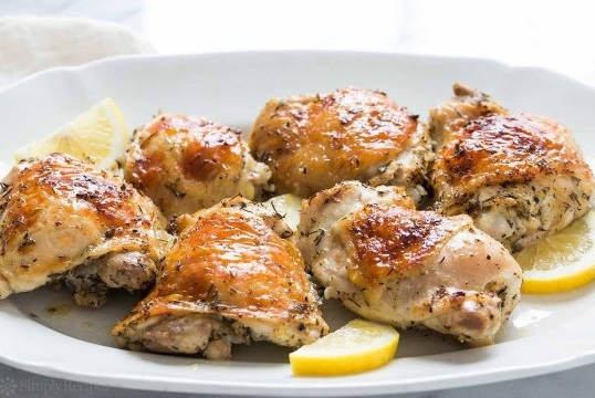 Chicken with cinnamon and lemon