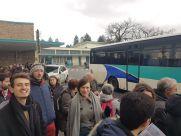Najpier musieliśmy dojechać podstawionym busem..