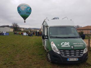 Można też było za darmo wznieść się balonem, który reklamował ubezpieczenia ;)