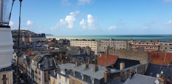 panorama miasta dieppe normandia