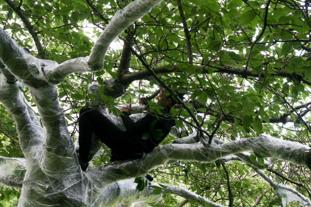 Metamorphosis: Cocoon, Sculptural Performance, 2012, Park in Progress (PIP), WEYA, Nottingham, UK