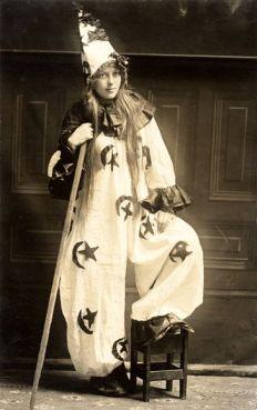 1910 - A sorcerer. Or clown. Or sorcerer clown. photo copyright Vintage Images, Alamy