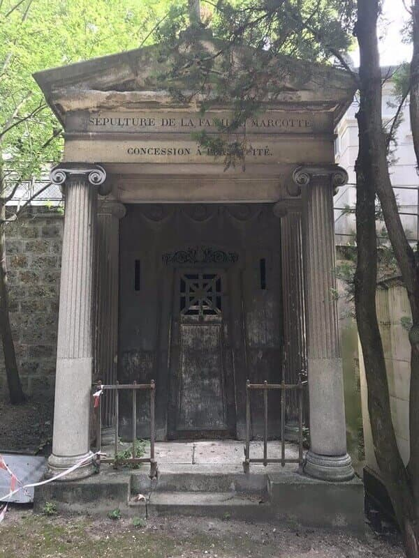 ornate mausoleum in a cemetery