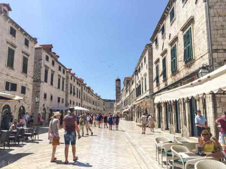 stone road in Dubrovnik