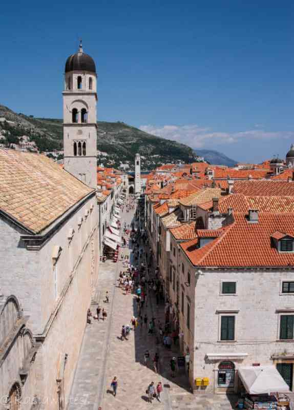 looking down at the old city of dubrovnik