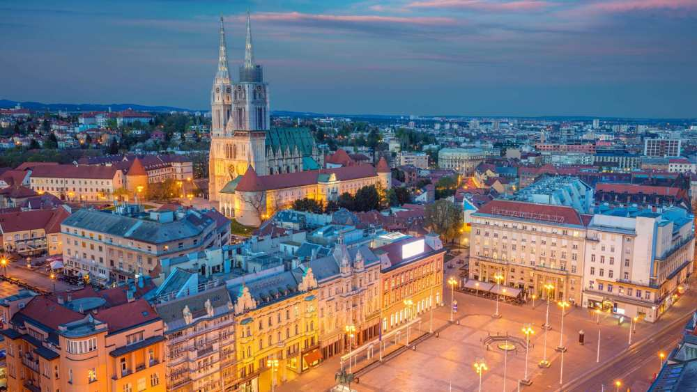 aerial view of Zagreb Croatia