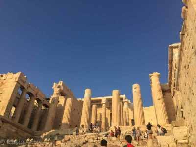 column ruins in Greek temple