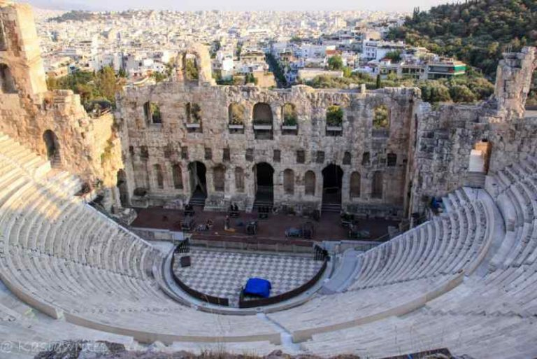 ruins of ancient greek theatre