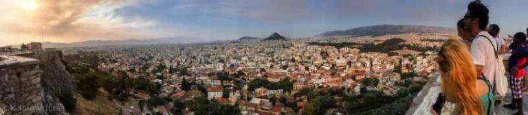 bird's eye view of Athens