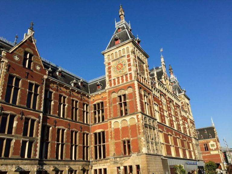 train station building in Amsterdam