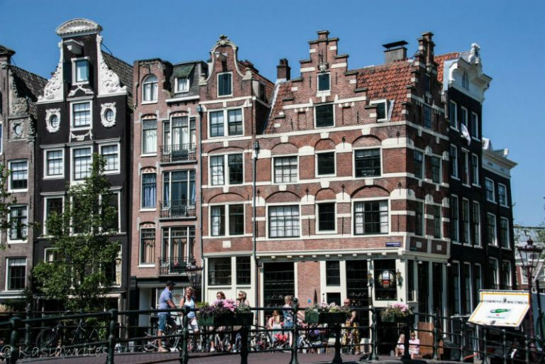 decorative facades of Amsterdam buildings