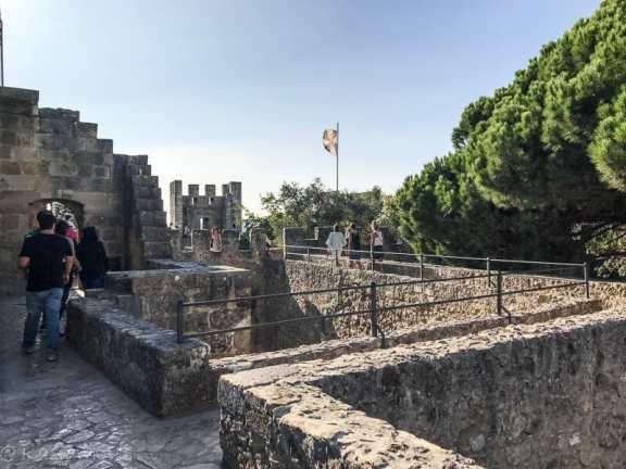 fortification walls of Castelo de Sao Jorge
