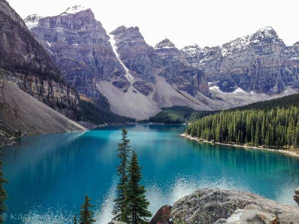 lake moraine in the fall