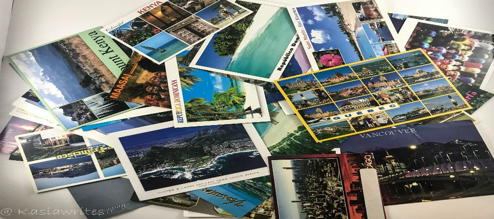 postcard collage