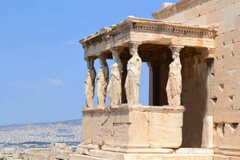 statues at Parthenon