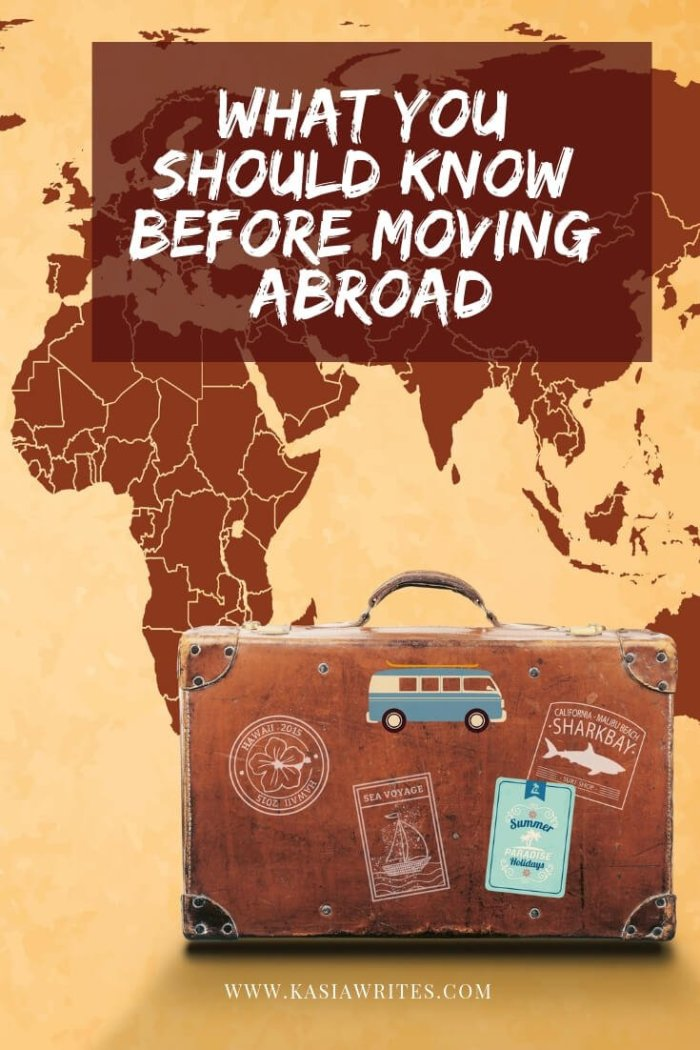 before moving abroad