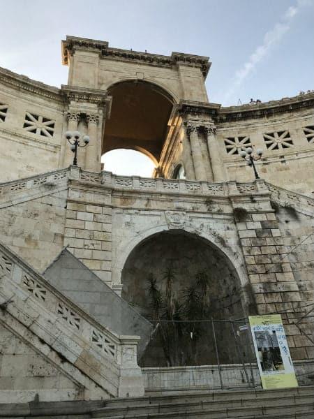 Bastione gate in Cagliari Sardinia