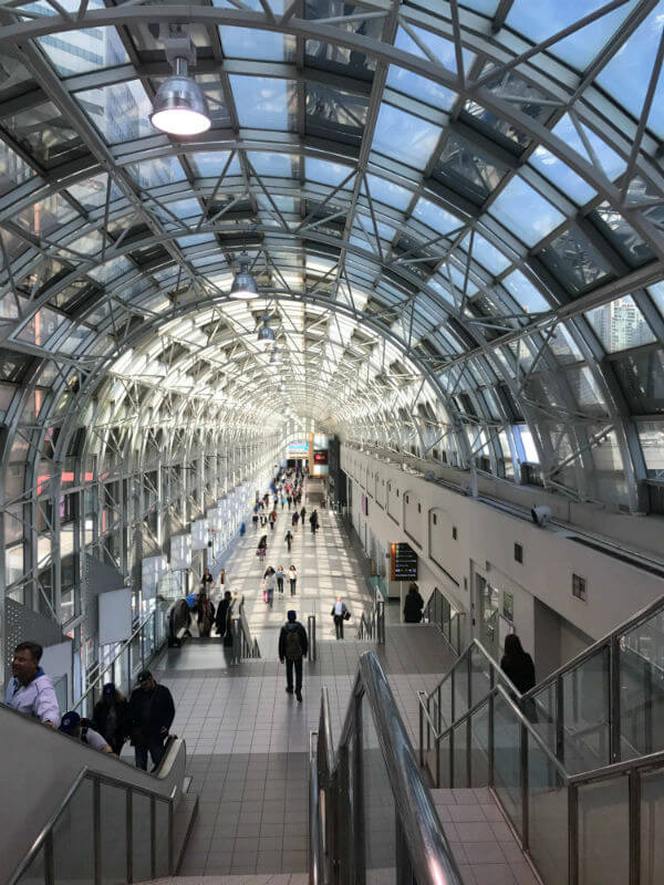 glass tunnel in Toronto