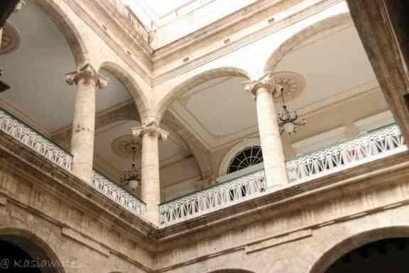 mezzanine with a collonade in Havana
