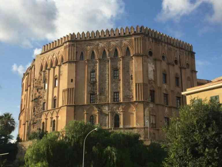 exterior wall of Palazzo dei Normanni