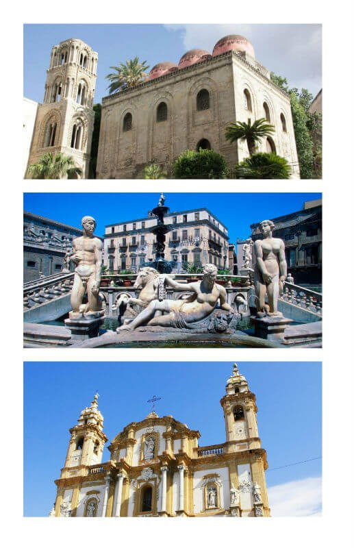 fountains and churches of Palermo