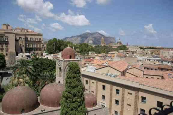 views of Palermo from the San Giovanni degli Eremiti tower