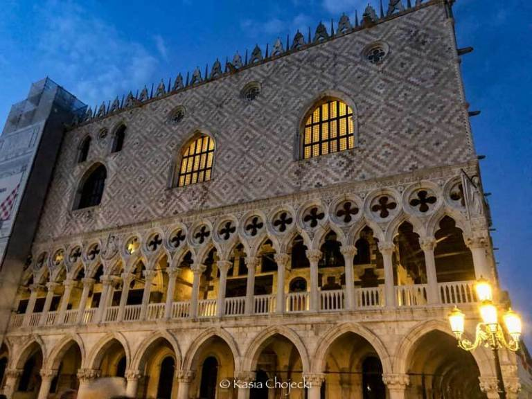 exterior of Palazzo Ducale in Venice