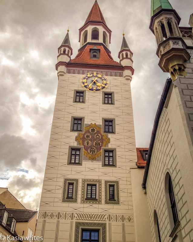 Munich attractions include old towers wth clocks