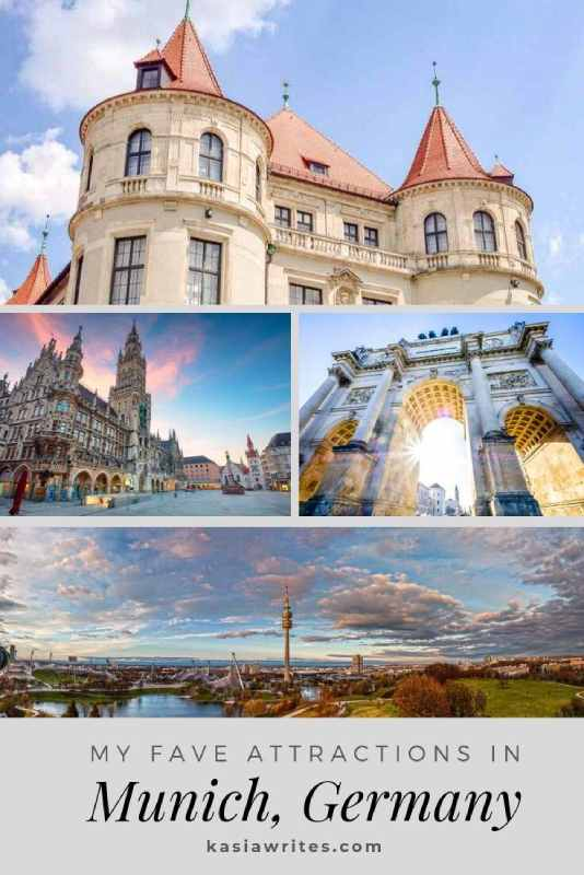 collage of Munich attractions