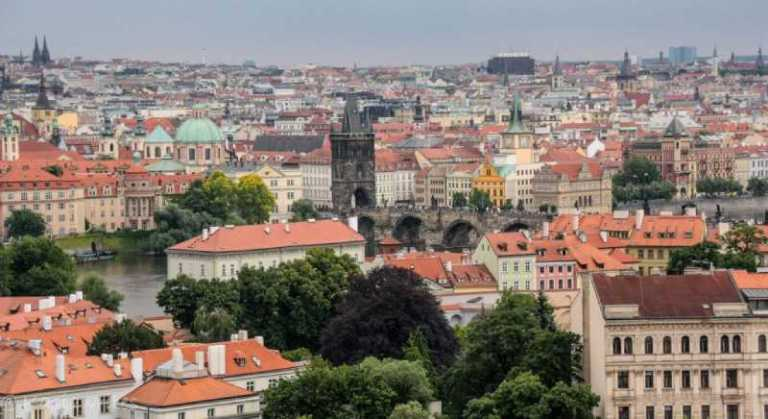 aerial view of the many things to do in Prague