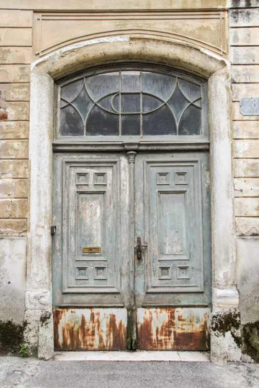 an old door in Zagreb